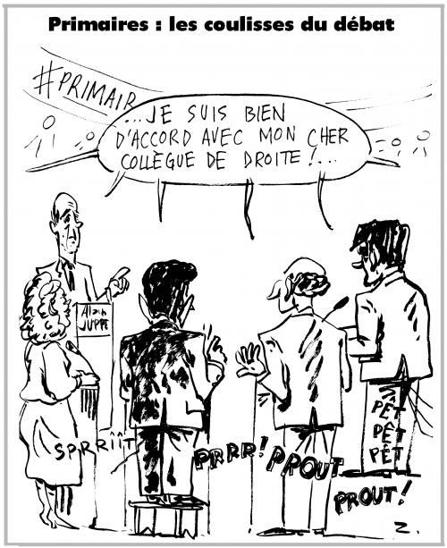 webzine,bd,zébra,gratuit,fanzine,bande-dessinée,caricature,primaires,débat,télévision,ump,dessin,presse,satirique,editorial cartoon,zombi