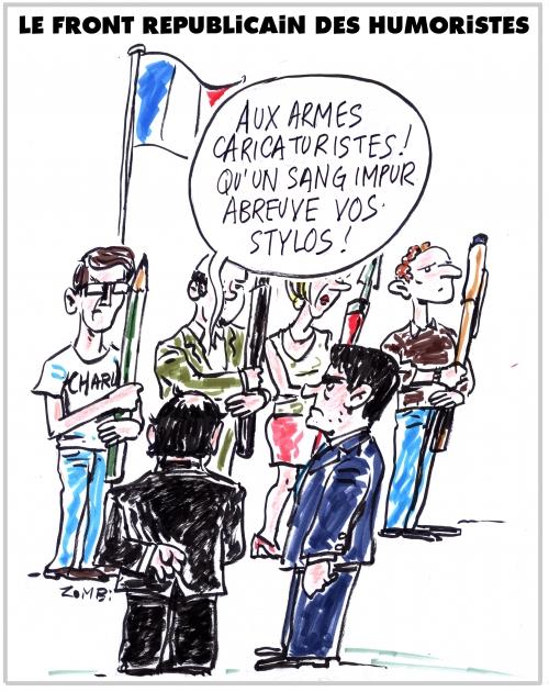 webzine,bd,zébra,fanzine,gratuit,bande-dessinée,caricature,caricaturiste,françois hollande,manuel valls,front républicain,dessin,presse,satirique,editorial cartoon,zombi
