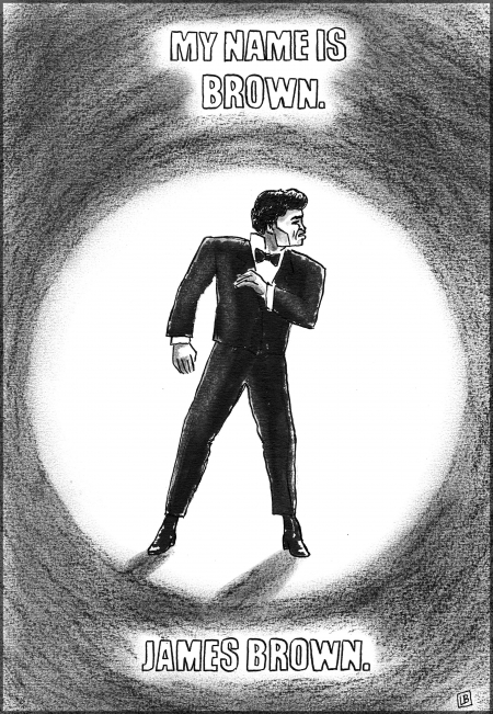 webzine,bd,gratuit,zébra,fanzine,bande-dessinée,caricature,james brown,get on up,film,lb