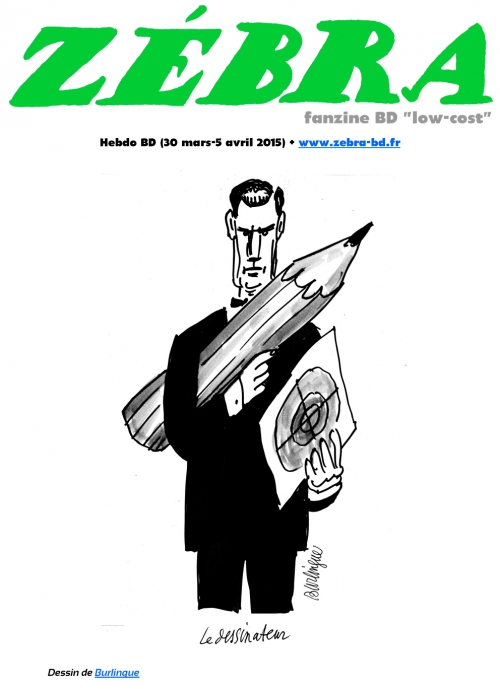 webzine,bd,gratuit,fanzine,zébra,bande-dessinée,revue de presse,actualité,hebdomadaire,couverture,burlingue,issuu.com,pdf,lien hypertexte