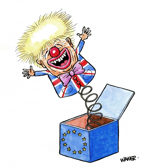 webzine,bd,zébra,gratuit,fanzine,bande-dessinée,caricature,boris johnson,clown,brexit,waner,siné-mensuel,dessin,presse,satirique,editorial cartoon