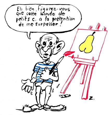 caricature,pablo picasso,fanzine,zébra,bd,bande-dessinée,illustration,zombi