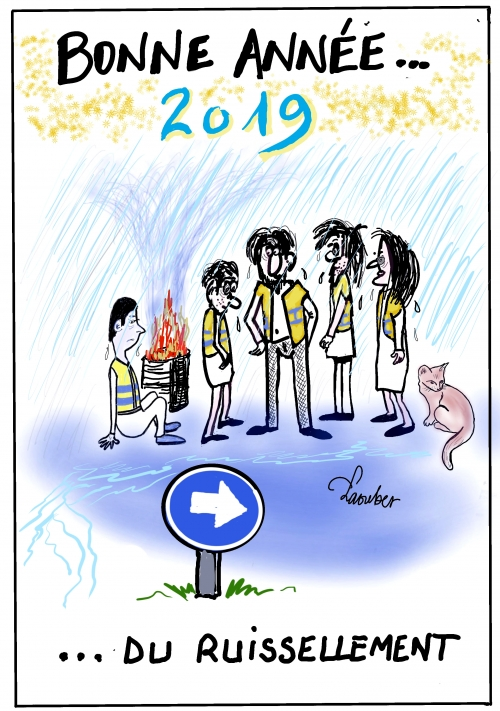 webzine,bd,gratuit,zébra,fanzine,bande-dessinée,caricature,gilets jaunes,voeux,2019,dessin,presse,satirique,laouber