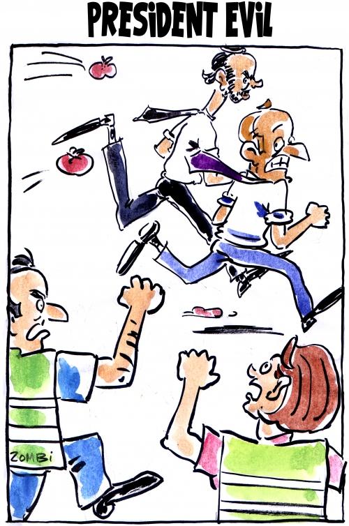 webzine,bd,zébra,gratuit,fanzine,bande-dessinée,caricature,emmanuel macron,edouard philippe,resident evil,president evil,dessin,presse,satirique,editorial cartoon,zombi