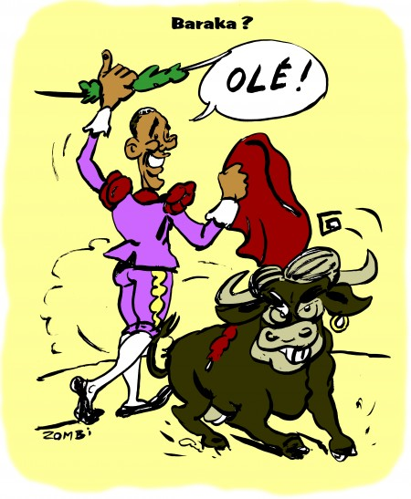 zebra,fanzine,bd,comics,caricature,editorial cartoon,barack obama,mitt romney,latino,hispanique