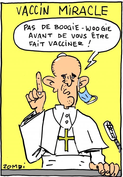 webzine,bd,zébra,gratuit,fanzine,bande-dessinée,caricature,pape,françois,vaccin,vaccination,coronavirus,boogie-woogie,dessin,presse,satirique,zombi