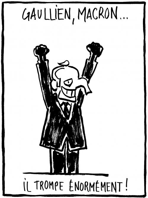 webzine,bd,zébra,gratuit,fanzine,bande-dessinée,caricature,emmanuel macron,gaullien,de gaulle,éléphant,dessin,presse,satirique,editorial cartoon,zombi