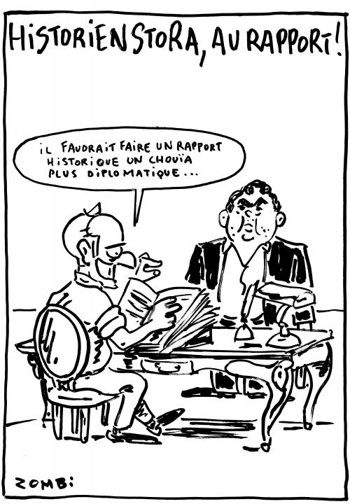 webzine,bd,zébra,gratuit,fanzine,bande-dessinée,caricature,benjamin stora,histoire,algérie,décolonisation,emmanuel macron,dessin,presse,satirique,editorial cartoon,zombi