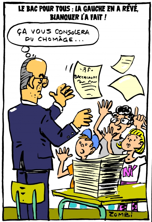 webzine,bd,zébra,gratuit,fanzine,bande-dessinée,caricature,jean-michel blanquer,baccalauréat,2020,coronavirus,dessin,presse,satirique,editorial cartoon,zombi