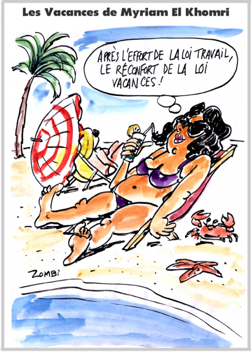 webzine,zébra,gratuit,fanzine,bande-dessinée,caricature,myriam,el khomri,loi travail,dessin,presse,satirique,editorial cartoon,zombi