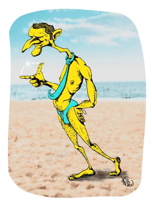 webzine,bd,zébra,gratuit,fanzine,bande-dessinée,caricature,emmanuel macron,été,plage,vacances,dessin,presse,satirique,editorial cartoon,bobika,siné-mensuel