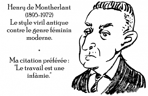 webzine,zébra,gratuit,bd,fanzine,bande-dessinée,antistyle,littéraire,critique,littérature,portrait,écrivain,caricature,citation,henry de montherlant,travail,viril,style,moderne