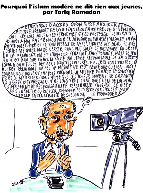 webzine,bd,gratuit,zébra,fanzine,bande-dessinée,caricature,tariq ramadan,islam,modéré,charia,dessin,presse,satirique,editorial cartoon,zombi