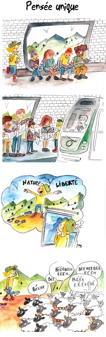 webzine,bd,gratuit,zébra,bande-dessinée,fanzine,strip,lola,aurélie dekeyser,humour,métro,paris