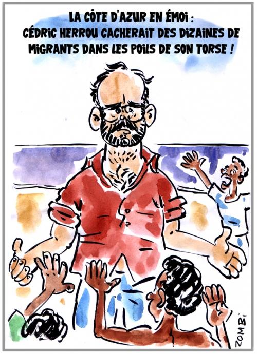 webzine,bd,zébra,fanzine,gratuit,bande-dessinée,caricature,cédric herrou,côte d'azur,migrant,asile,dessin,presse,satirique,editorial cartoon,zombi