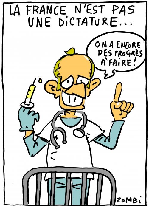webzine,bd,zébra,gratuit,fanzine,bande-dessinée,caricature,france,dictature sanitaire,emmanuel macron,dessin,presse,satirique,editorial cartoon,vaccin,zombi