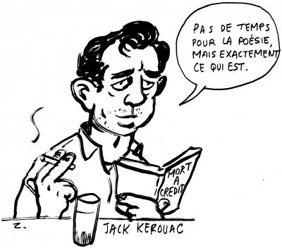 webzine,gratuit,bd,zébra,bande-dessinée,fanzine,portrait,jack kerouac,pigalle,san francisco,bar