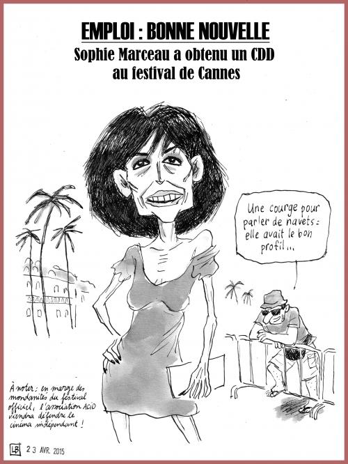 webzine,bd,gratuit,zébra,fanzine,bande-dessinée,caricature,sophie marceau,cinéma,dessin,presse,satirique,editorial cartoon,lb