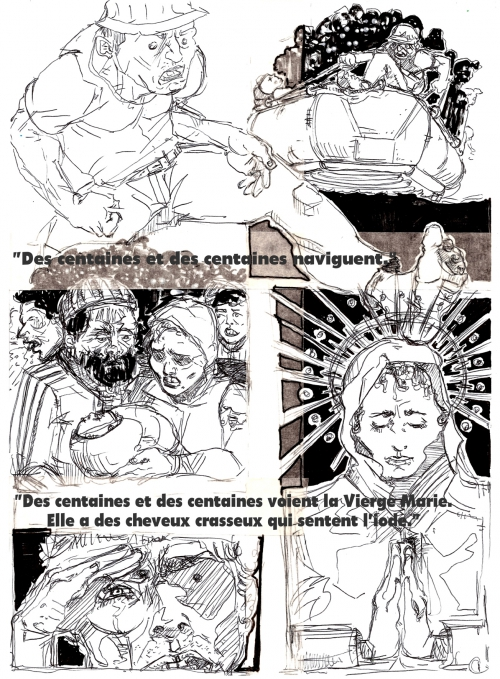 webzine,bd,zébra,gratuit,fanzine,bande-dessinée,armando genco,migrants,mer,navigation
