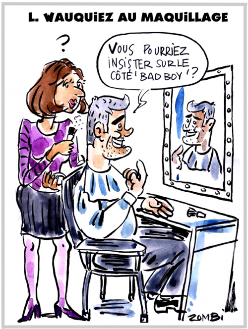 webzine,bd,zébra,gratuit,fanzine,bande-dessinée,caricature,laurent wauquiez,maquillage,marketing,politique,dessin,presse,satirique,editorial cartoon,zombi