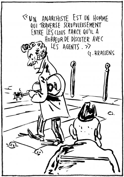 webzine,bd,zébra,gratuit,fanzine,bande-dessinée,caricature,georges brassens,anarchiste,agent,dessin,presse,satirique,editorial cartoon,zombi