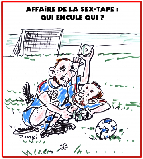webzine,gratuit,zébra,bd,fanzine,bande-dessinée,caricature,karim benzema,mathieu valbuena,sex-tape,football,gay,dessin,presse,satirique,editorial cartoon,zombi