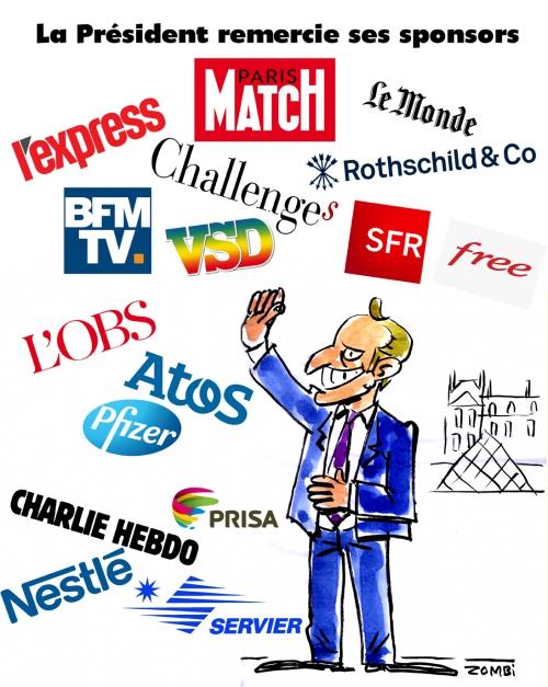 webzine,bd,zébra,gratuit,fanzine,bande-dessinée,caricature,emmanuel macron,présidentielles,2017,sponsor,rothschild,paris-match,bfm,vsd,l'obs,l'express,charlie-hebdo,servie,pfeizer,dessin,presse,satirique,editorial cartoon,zombi