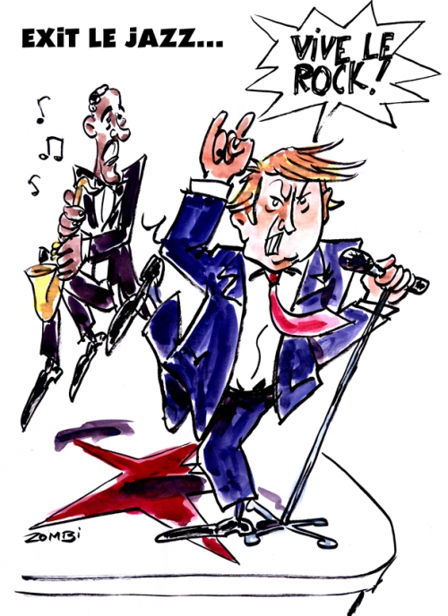 webzine,bd,zébra,fanzine,gratuit,bande-dessinée,caricature,jazz,barack obama,donald trump,rockn'roll,présidentielle,usa,dessin,presse,satirique,editorial cartoon,zombi