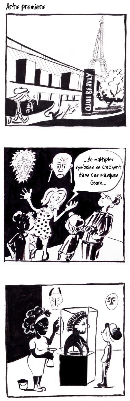 webzine,bd,gratuit,zébra,bande-dessinée,fanzine,strip,lola,aurélie dekeyser,musée,quai branly,chirac,masque,africain,paris