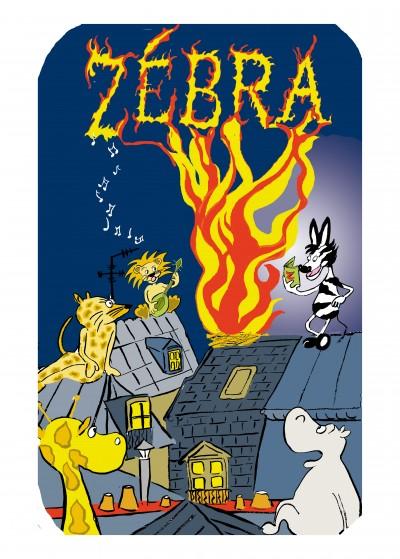 carte, voeux,bd,bande dessinée,paris,zebra