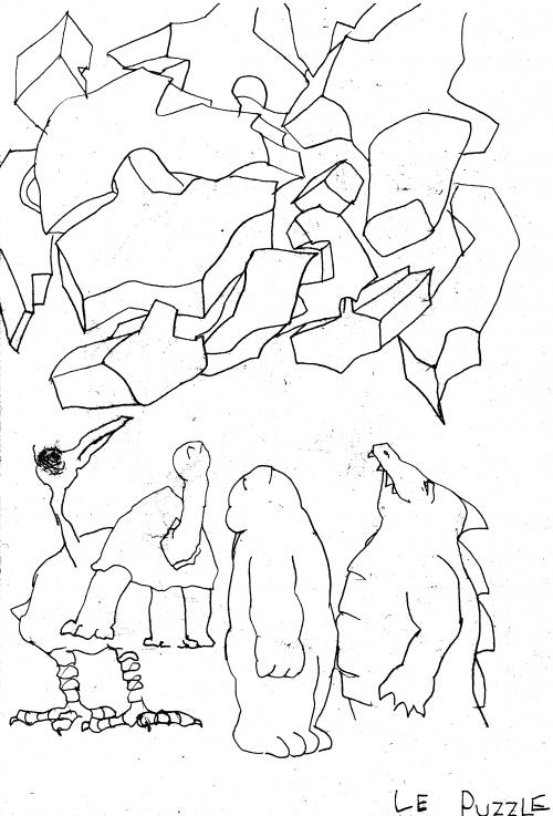 fanzine,webzine,zébra,bd,bande-dessinée,gratuit,louise asherson,illustration,puzzle,dessin,croquis,carnet