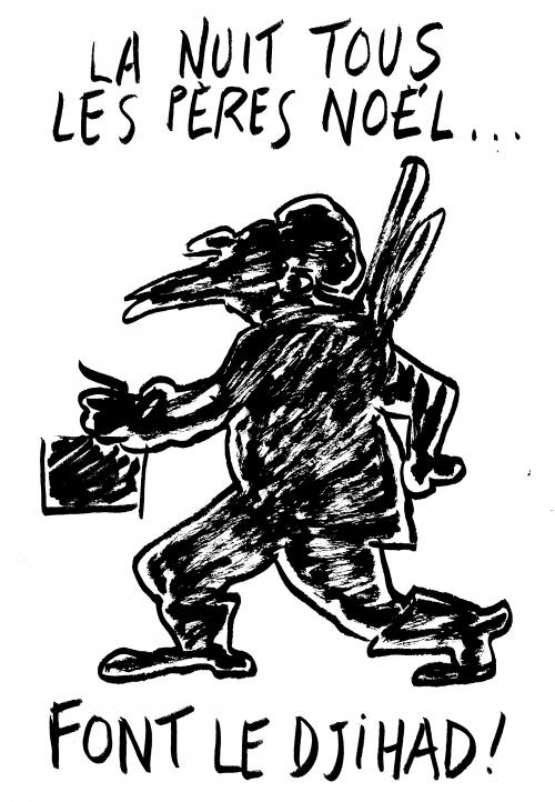 webzine,bd,zébra,gratuit,fanzine,bande-dessinée,caricature,père noël,djihad,dessin,presse,satirique,editorial cartoon,lb