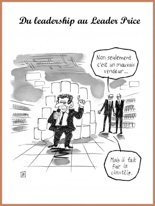 webzine,bd,zébra,gratuit,fanzine,bande-dessinée,caricature,nicolas sarkozy,leader price,leadership,dessin,presse,satirique,editorial cartoon,lb
