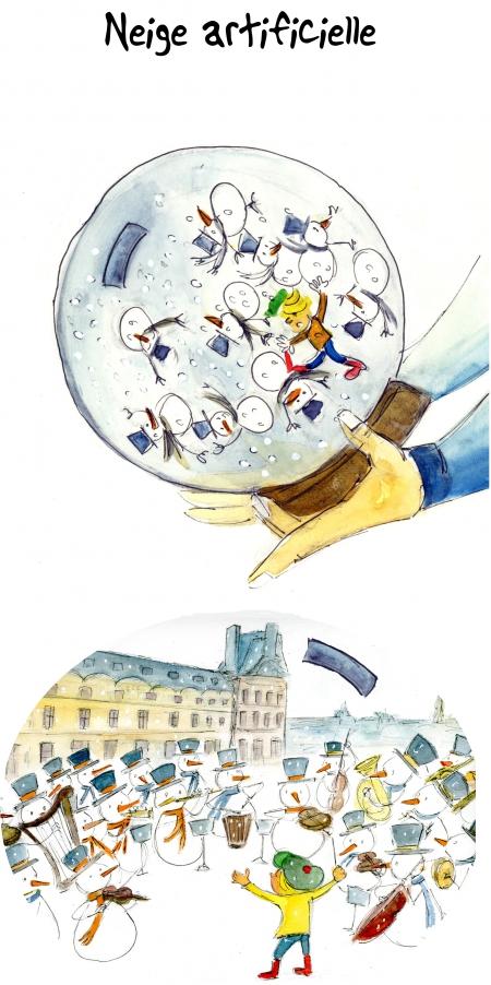 webzine,bd,gratuit,zébra,bande-dessinée,fanzine,strip,lola,aurélie dekeyser,humour,concert,neige,noël,2015,paris,hôtel de ville