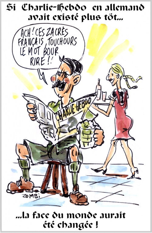 webzine,bd,zébra,fanzine,gratuit,bande-dessinée,caricature,charlie-hebdo,version allemande,pub,adolf hitler,dessin,presse,satirique,editorial cartoon