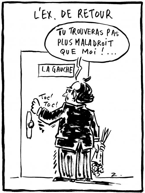 webzine,bd,zébra,gratuit,fanzine,bande-dessinée,caricature,françois hollande,ex,retour,gauche,dessin,presse,satirique,editorial cartoon,zombi