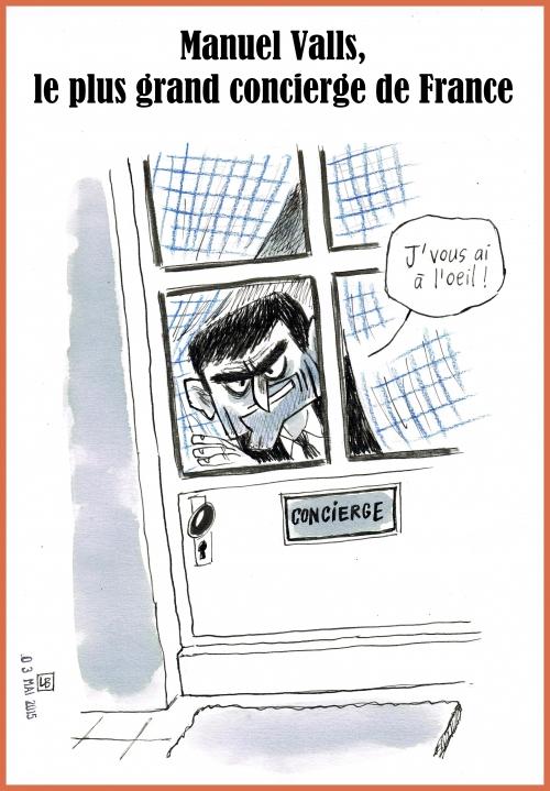 webzine,bd,zébra,gratuit,fanzine,bande-dessinée,caricature,manuel valls,concierge,renseignement,dessin,presse,lb,editorial cartoon,satirique