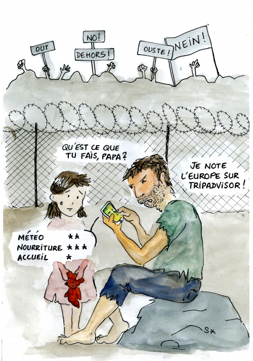 webzine,bd,gratuit,fanzine,zébra,bande-dessinée,soap,caricature,europe,migrants,accueil,tripadvisor,dessin,presse,satirique,editorial cartoon