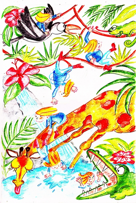 webzine,bd,zébra,fanzine,bande-dessinée,enfance,jungle,strip,lola,aurélie dekeyser