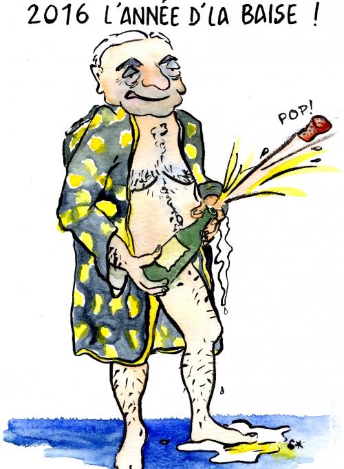 webzine,bd,zébra,fanzine,gratuit,bande-dessinée,caricature,bonne année,2016,dominique strauss-kahn,dsk,baise,voeux,dessin,presse,satirique,soap,editorial cartoon