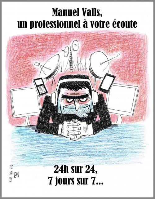 webzine,bd,zébra,gratuit,fanzine,bande-dessinée,caricature,manuel valls,écoute,espionnage,renseignement,dessin,presse,satirique,editorial cartoon,lb