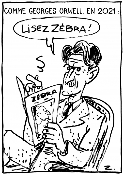 webzine,bd,zébra,gratuit,fanzine,bande-dessinée,caricature,voeux,2021,george orwell,dessin,presse,satirique,zombi