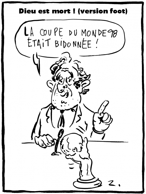 webzine,bd,gratuit,zébra,fanzine,bande-dessinée,caricature,michel platini,football,coupe du monde,1998,trucage,dessin,presse,satirique,editorial cartoon,zombi