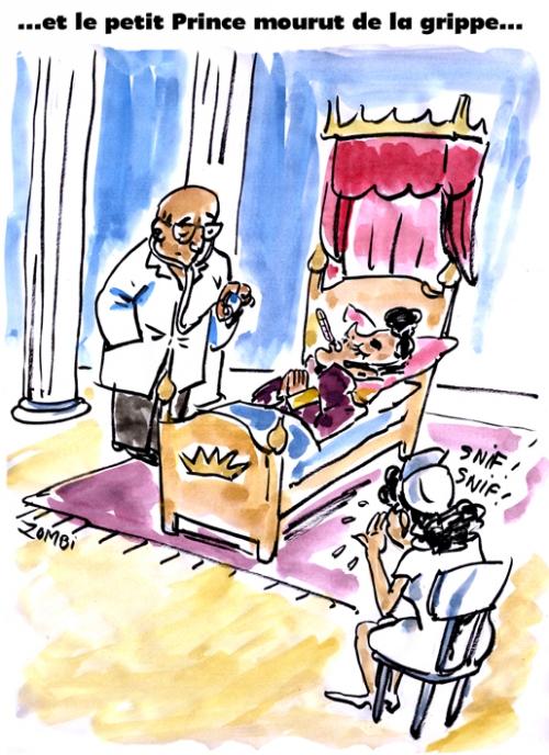 webzine,bd,zébra,fanzine,gratuit,bande-dessinée,caricature,prince,nelson,grippe,mort,décès,chevet,chanteur,disco,dessin,presse,satirique,editorial cartoon,zombi