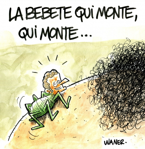 webzine,bd,gratuit,zébra,fanzine,bande-dessinée,gag,caricature,waner,emmanuel macron,bête,monte,insecte,dessin,presse,satirique,editorial cartoon