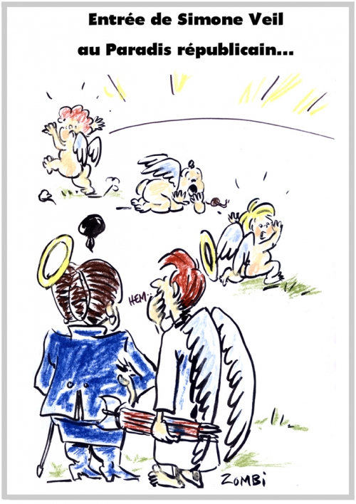 webzine,bd,zébra,fanzine,gratuit,bande-dessinée,caricature,simone veil,panthéon,paradis,avortement,foetus,dessin,presse,satirique,editorial cartoon,zombi