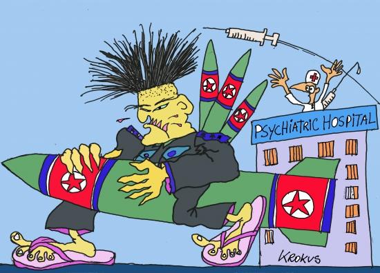webzine,bd,zébra,fanzine,gratuit,bande-dessinée,caricature,kim jong un,bombe,corée,krokus,dessin,presse,satirique,editorial cartoon
