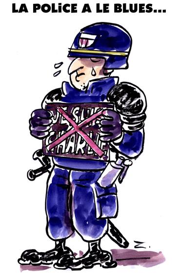webzine,bd,zébra,fanzine,gratuit,bande-dessinée,caricature,police,je suis charlie,blues,manifestation,dessin,presse,satirique,editorial cartoon,zombi