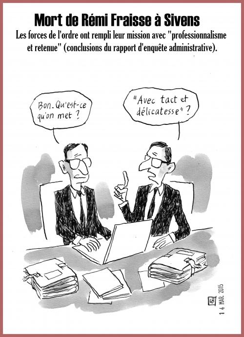 webzine,bd,gratuit,fanzine,zébra,bande-dessinée,caricature,sivens,rapport d'enquête,rémi fraisse,barrage,dessin,presse,satirique,editorial cartoon,lb