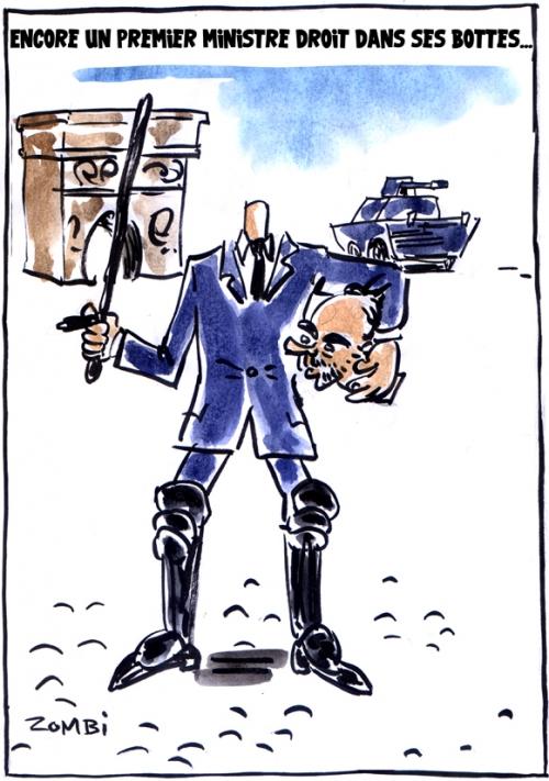 webzine,bd,zébra,fanzine,gratuit,bande-dessinée,caricature,edouard philippes,bottes,gilets jaunes,champs-élysées,manifestation,dessin,presse,satirique,editorial cartoon,zombi
